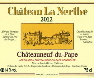 La Nerthe 2012 Label