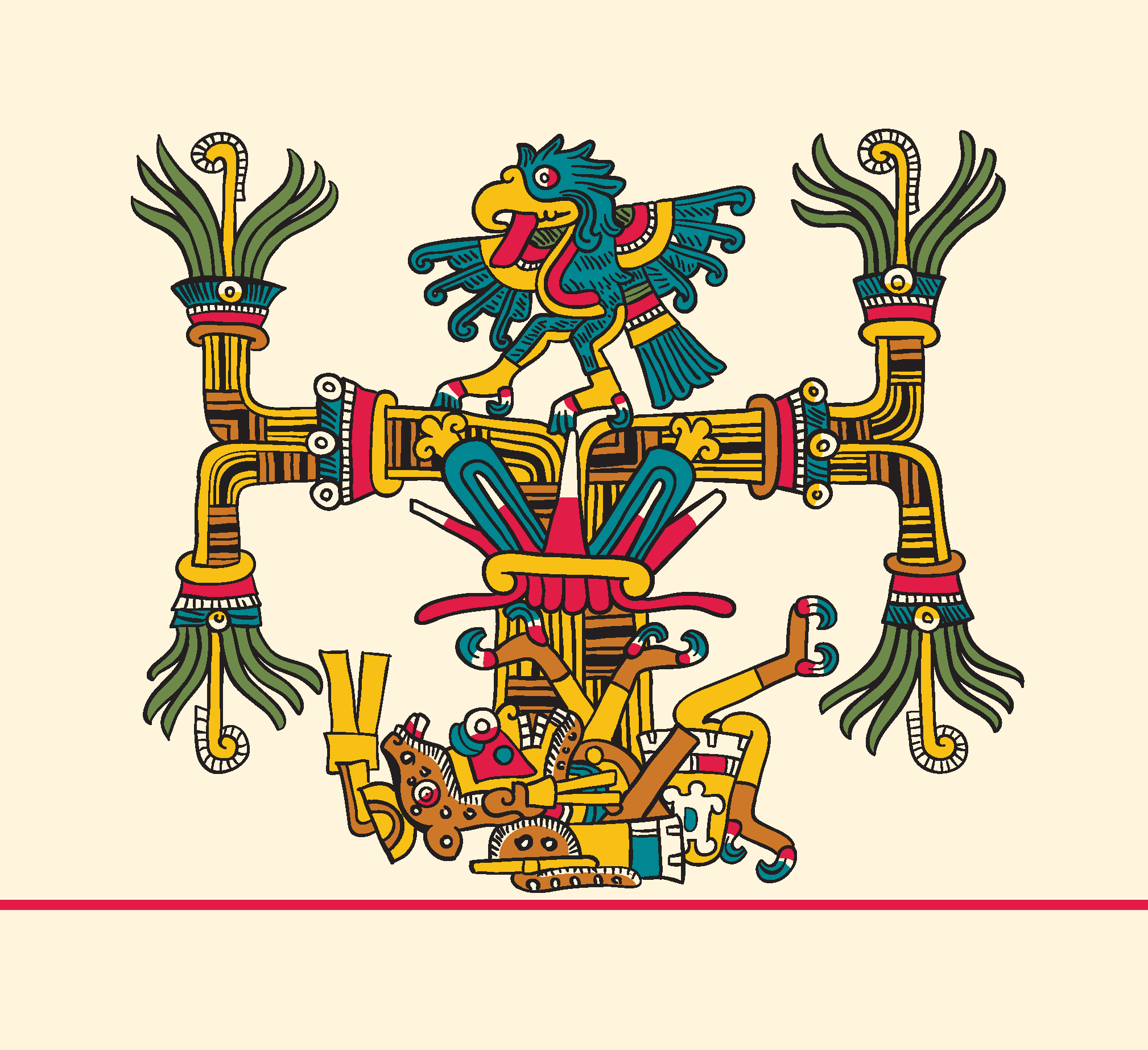 Detail of Mayahuel:maguey from Codex Laud 9