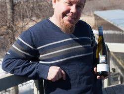 Keith Tyers with new Pinot Gris