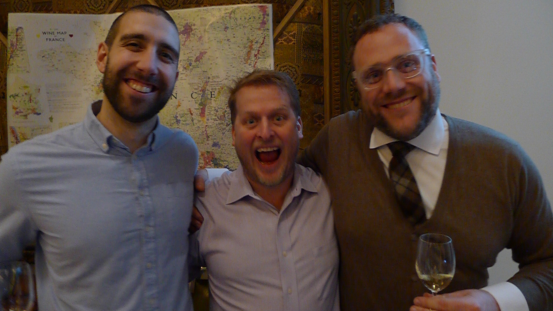 Sam Mellanson (The Somm Factory), Bruce Walner MS (The Somm Factory), and Mark Coster (Noble Estates).