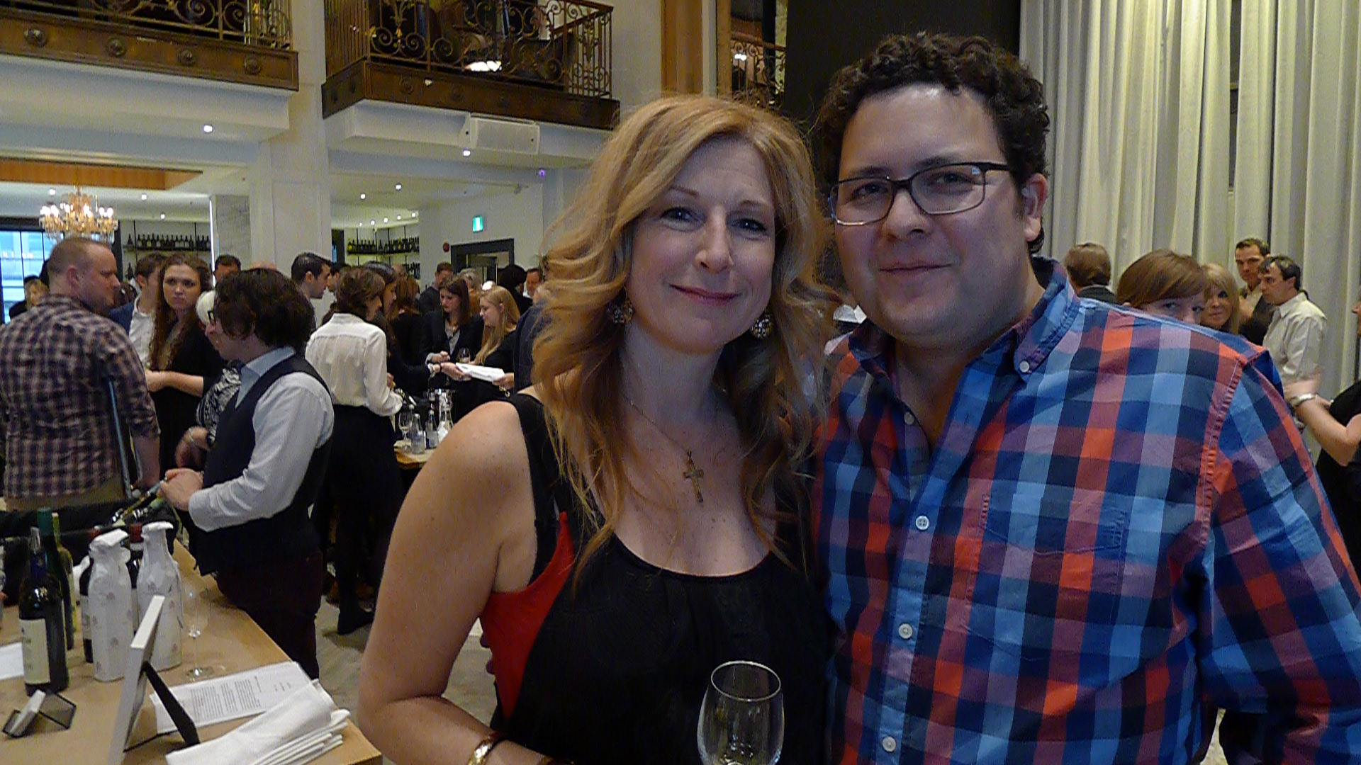Magdalena Kaiser (Wine Ontario) and Mark Cuff (The Living Vine).