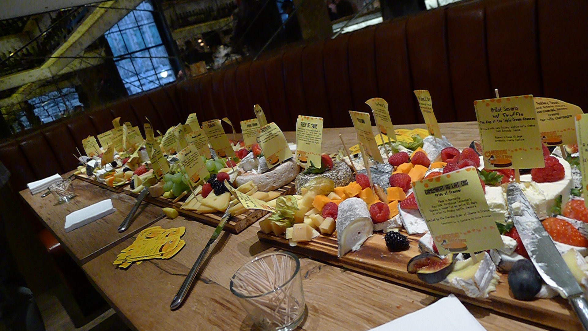 A terrific cheese display courtesy of Afrim at The Cheese Boutique.