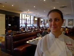 Biff's Chef de Cuisine Amanda Ray is enjoying her restaurant's new look.