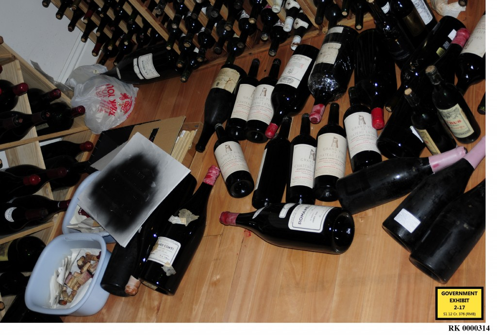 The kitchen counterfeit wine lab uncovered by the FBI bust at Rudy Kurniawan's townhouse in suburban L.A.   (on March 8, 2012)