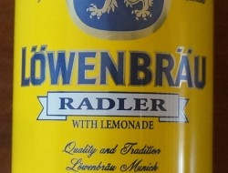 A can of Löwenbrâu Radler. Don't do it. Just don't. Vile.