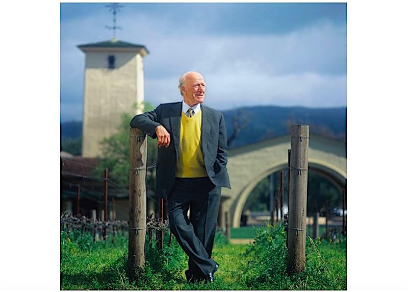Robert Mondavi at his winery