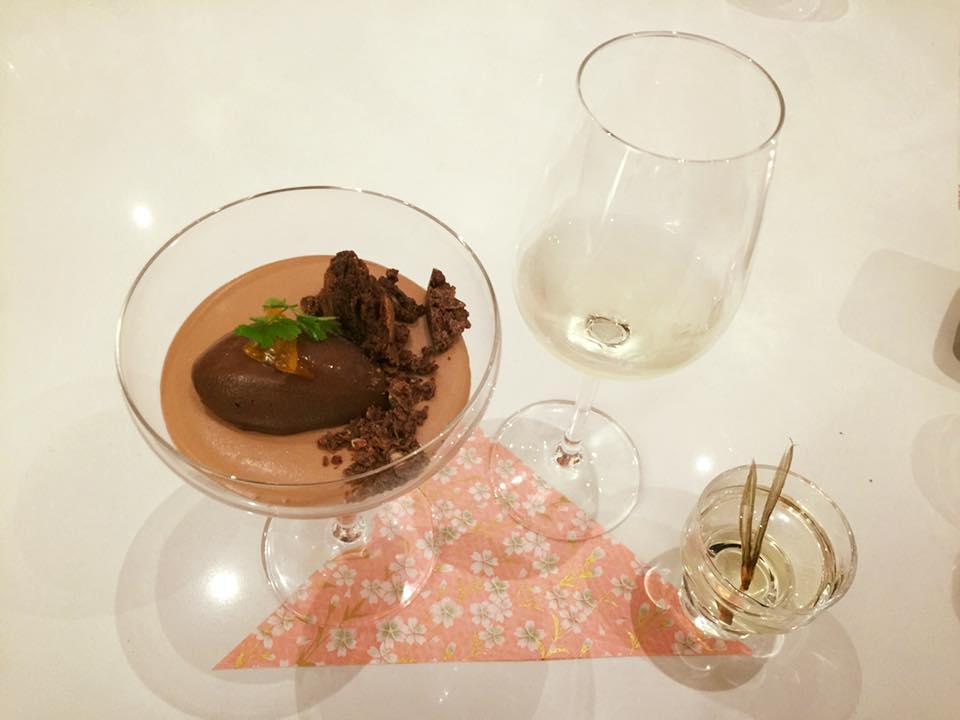 Pastry Chef's Creation with Kozaemon House Junmai Sake.