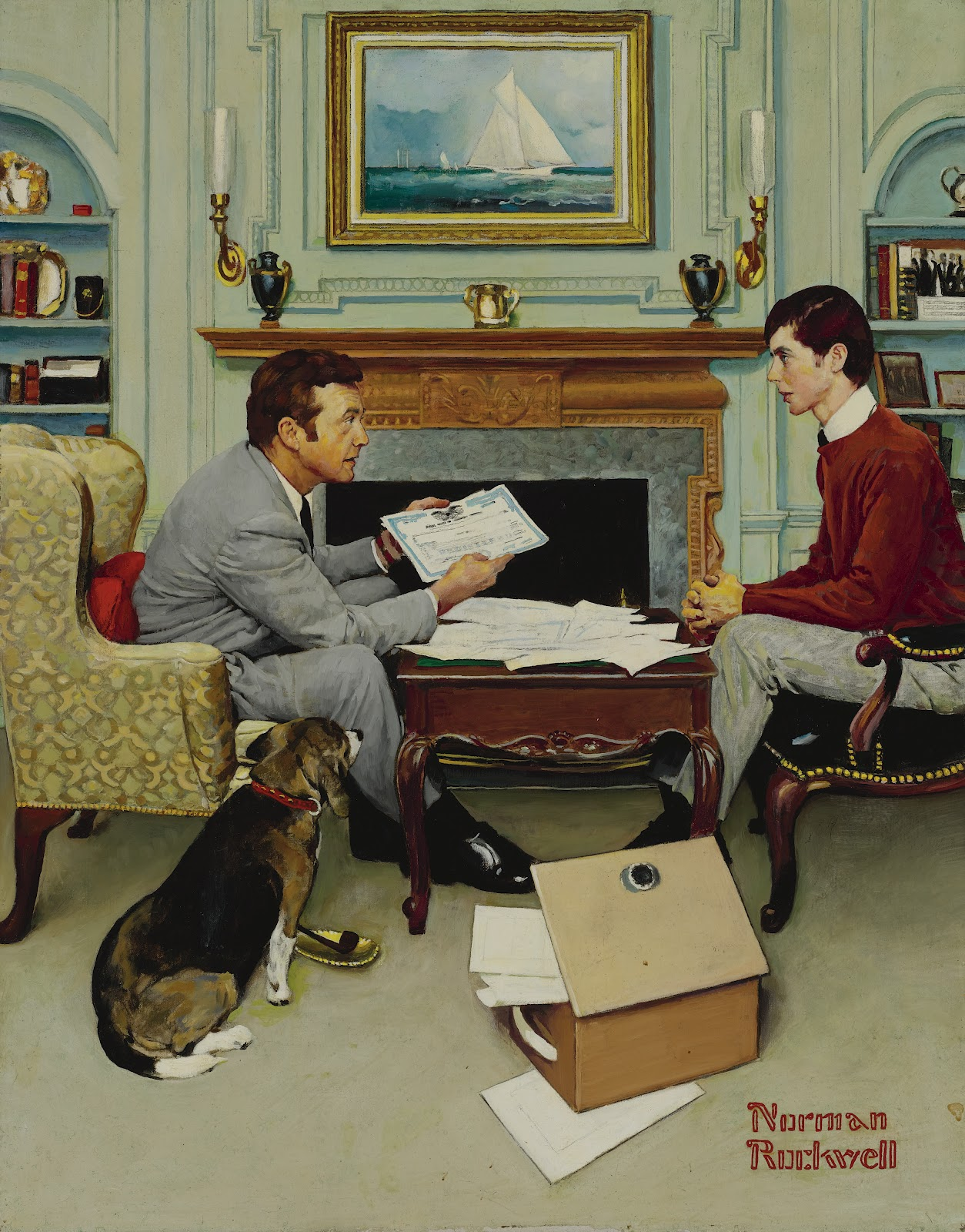 1972_fatherandson_38_by30_normanrockwell