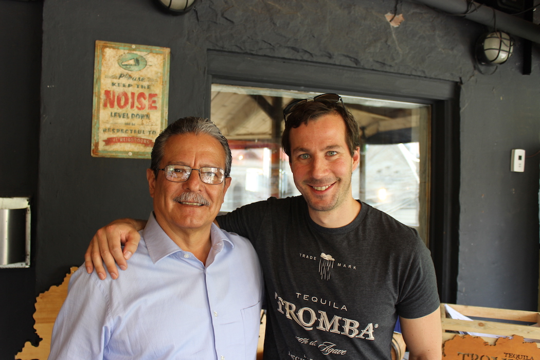 Master distiller Marco Cedano and Eric Brass of Tequila Tromba