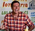 Chuck Hughes laughing
