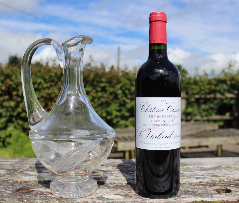 Chateau Cissac 2005 with a Decanter