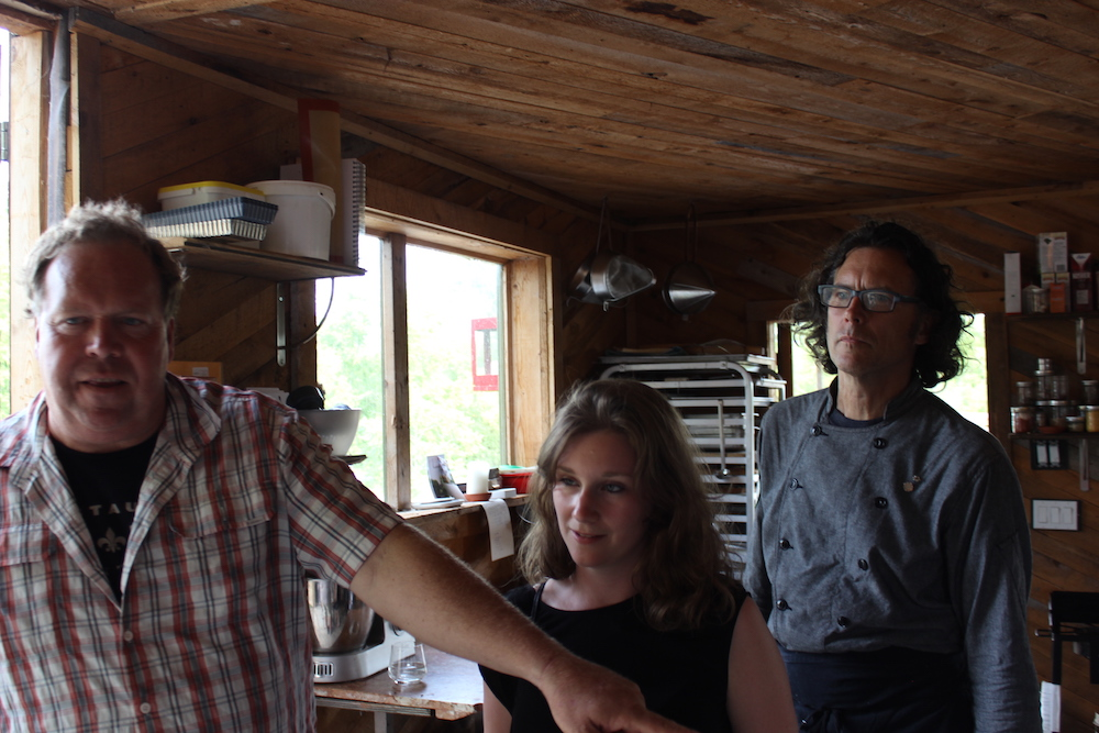 Norm Claude and Jamie at Kennedy Farm