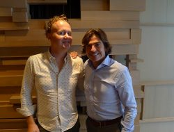 Good Food Revolution's Jamie Drummond and Winemaker Telmo Rodriguez.