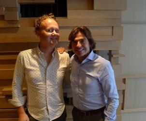Good Food Revolution's Jamie Drummond and Winemaker Telmo Rodriguez.