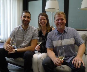 The machinery behind the Sommelier Factory : Sam Melanson, Emily Maclean, Bruce Wallner MS.