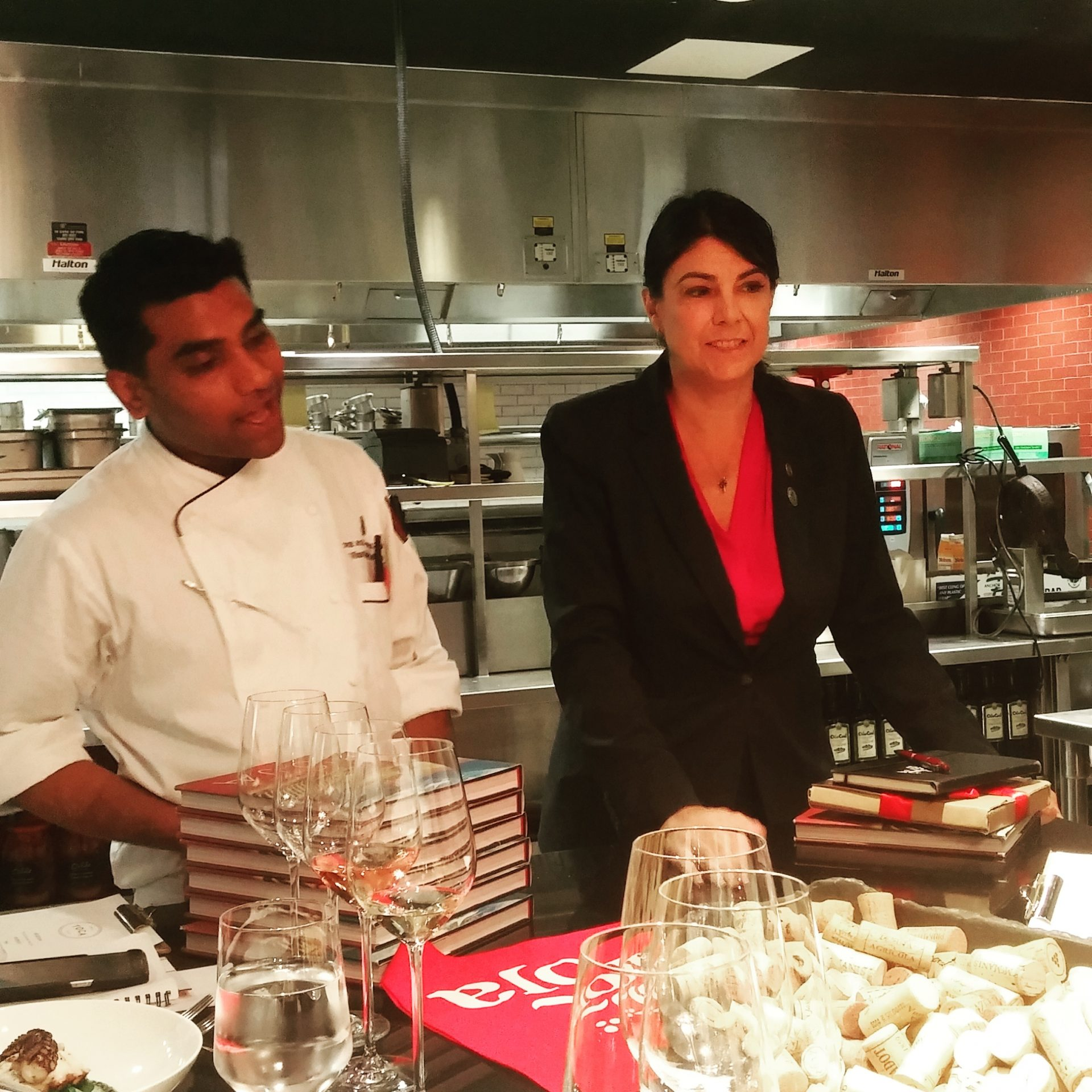 Chef Jitin Gaba and Sommelier Lorrie O'Sullivan of TOCA