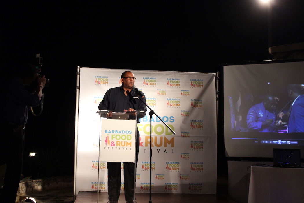 Barbados Minister of Tourism, The Hon. Richard L. Sealy at The Crane Resort.