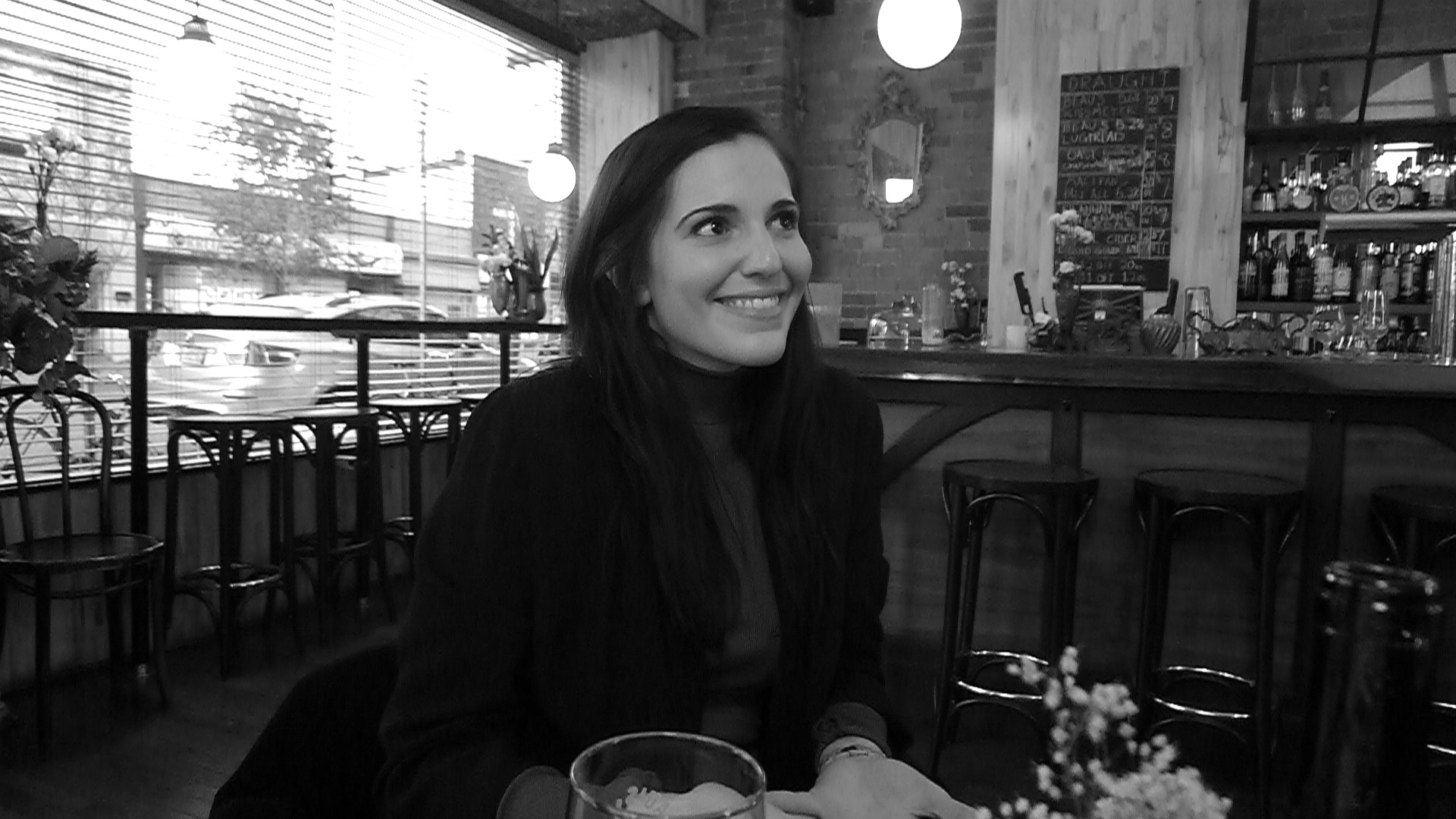 Portland Variety's Renée Sferrazza enjoys a few beverages at Toronto's Northern Belle.