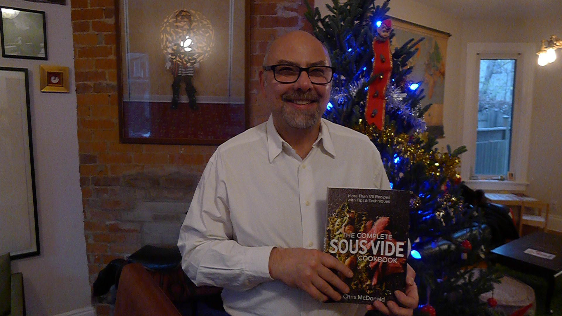 Chef Chris McDonald is quite proud of his long-researched book on sous vide cooking, and rightfully so!