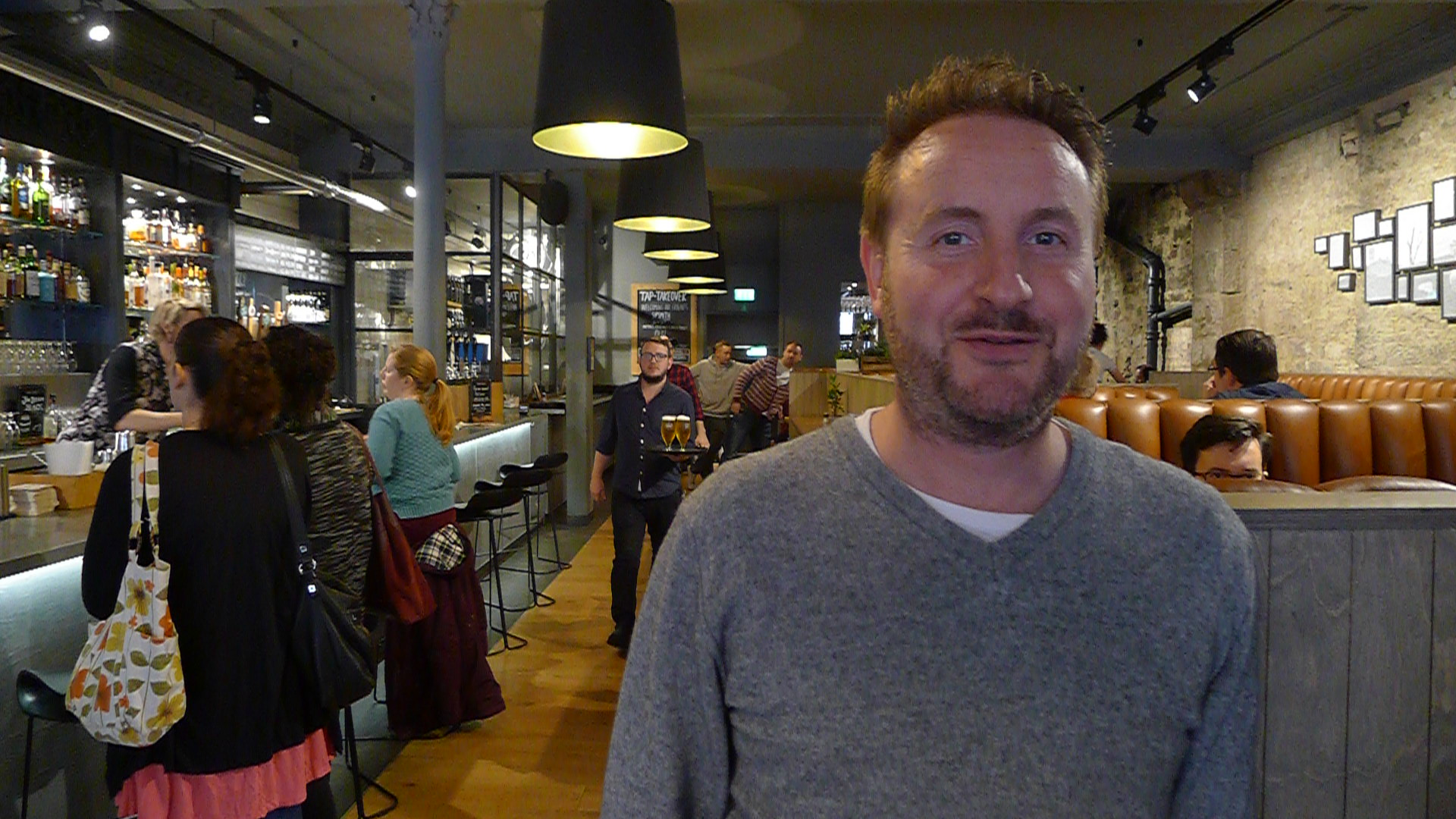 Innis and Gunn's Founder and Master Brewer. Mr. Dougal Sharp at Edinburgh's Beer Kitchen.
