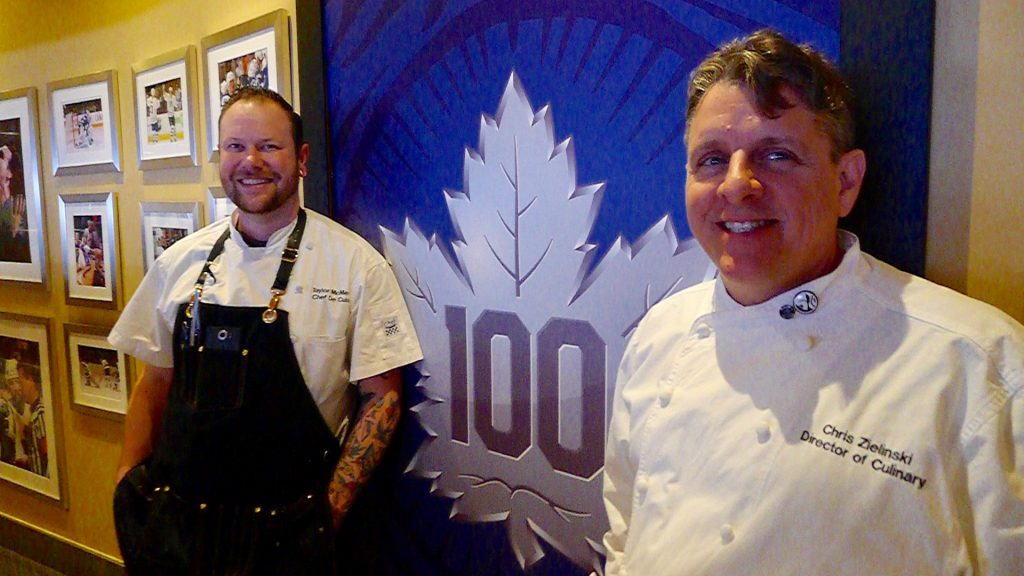 Culinary Director Chris Zielinski (right) with fellow Chef Taylor McMeekin from the Air Canada Club.