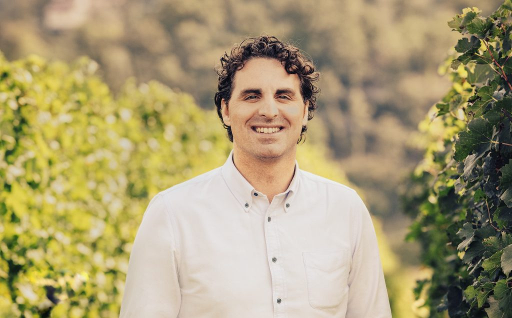 Castello di Gabbiono's Winemaker Frederico Cerelli looks most at home in his vineyards.