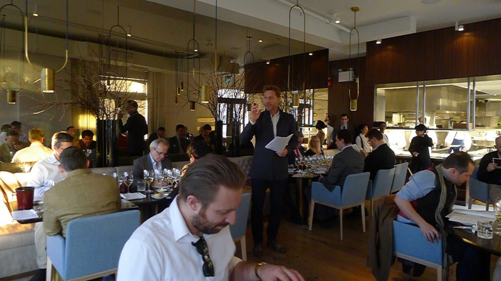 Master Sommelier John Szabo holds court at Alo, where he presented a truly impressive range of Austrian wines to the assembled crowd.
