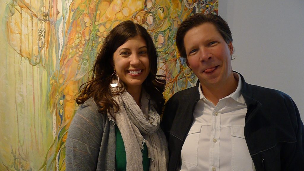 Stoller's Winemaker Melissa Burr pictured here with Sales Director Cory Davis, who rarely gets in photographs.