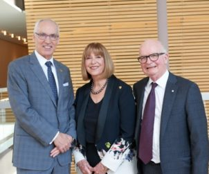 University of Guelph President Franco Vaccarino with Anne and Tony Arrell at The Four Seasons Centre the other week.