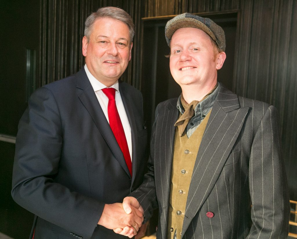 Austrian Minister for Agriculture Andrae Rupprechter and GFR's Jamie Drummond.
