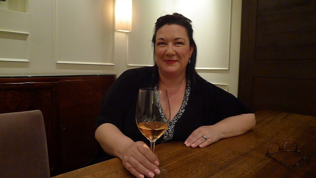 Mellecey Wine Group's delightful Cyndi Grossman enjoys some terrific rosé at Toronto's Spoke Club.