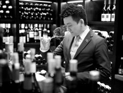 Hawksworth Restaurant's Bryant Mao hard at work.