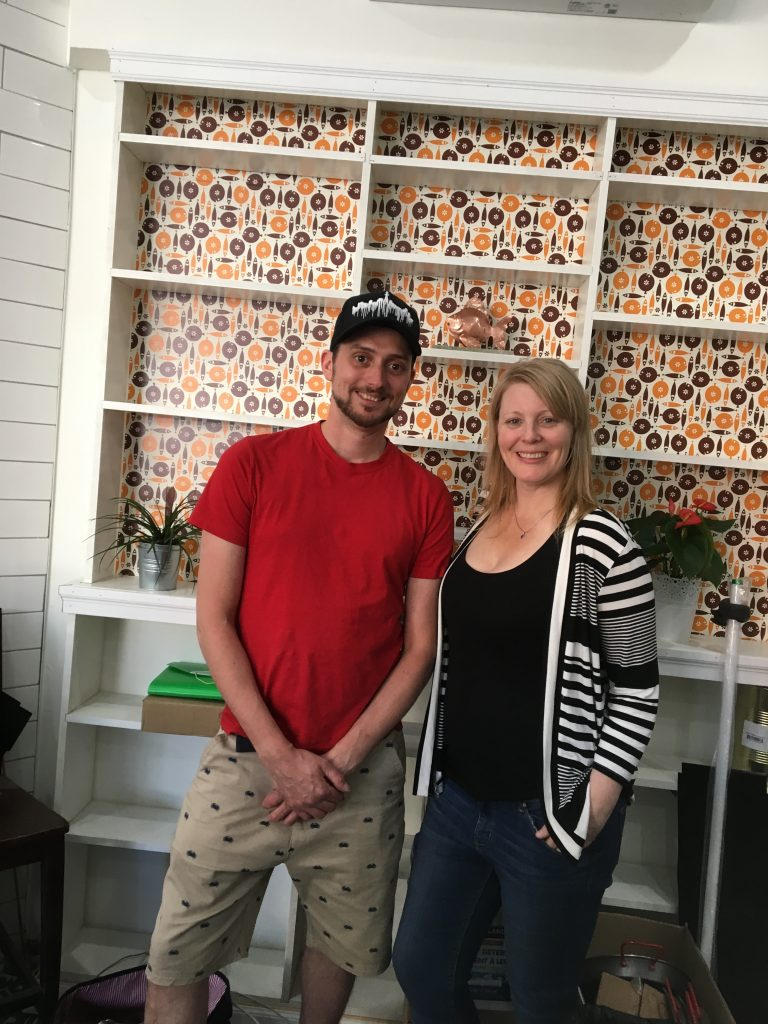 Sean Kinghan and Laura Cleland open Hooked's new 1246 Danforth location.