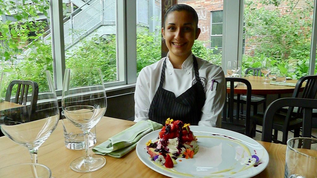 Café Belong's Chef de Cuisine Reem Kamal-Al-Deen does like her Ontario strawberries. Check out her Strawberry Pavlova right now!