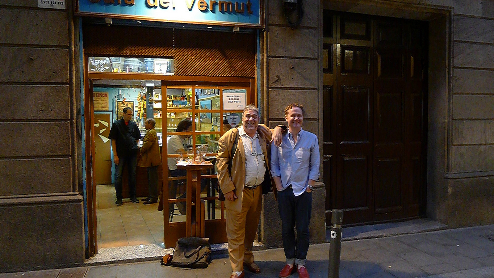 Exploring the backalley Vermut bars of Barcelona with the one-and-only Oliver Maxwell in 2013.