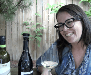 Sharing Prosecco and good times with Perlage's Elena Brugnera Muraro.