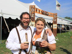 Steve and Korina at Beau's 2017 Oktoberfest. TOTALLY WUNDERBAR!