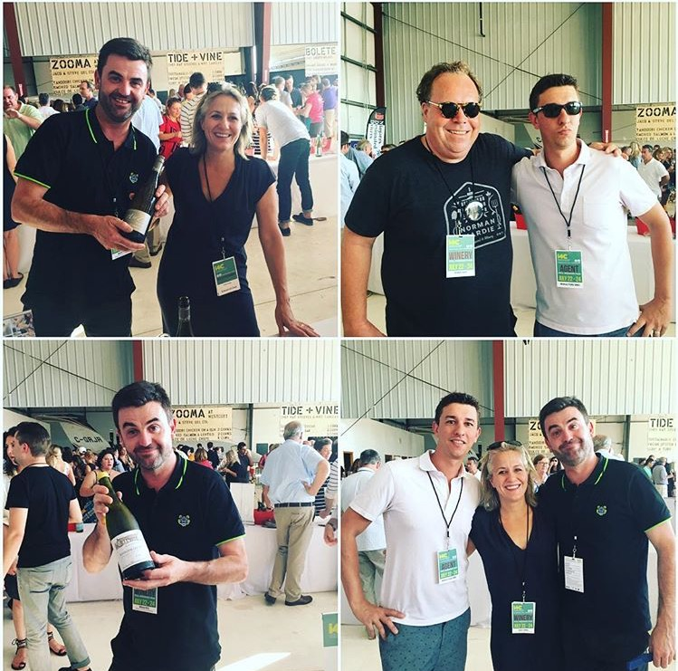 Flashback to a recent visit from both Nicolas Potel (Roche de Bellene - Burgundy, Fra) and Cheryl Francis (Rex Hill / A to Z Wineworks - Willamette Valley, Oregon USA)  (with a special cameo of local wine hero, Norm Hardie. I4C2016)