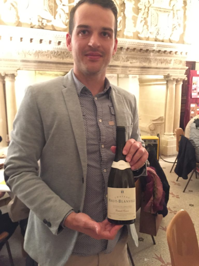 Châtea Haut-Blanville's Baptiste Koch in Languedoc earlier this year.