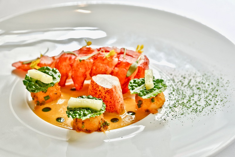 Lobster with Coastal Curry and Cilantro (Srijith Gopinathan, Restaurant Campton Place, San Francisco)