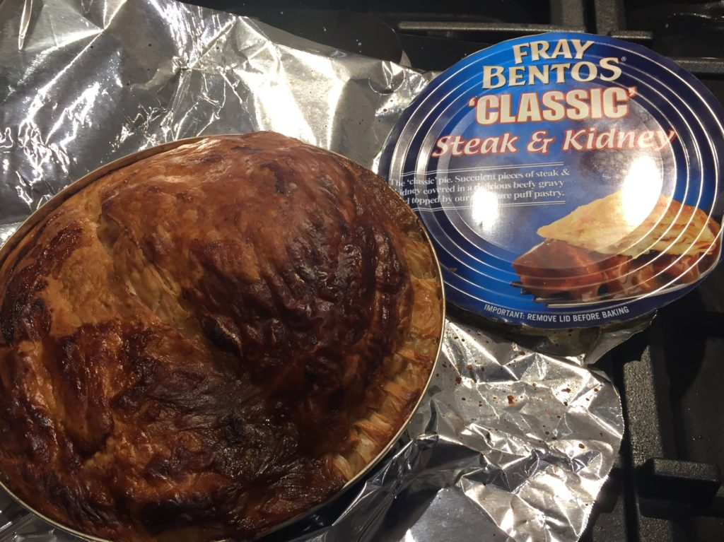 A eleventh-hour winner of the the title of Worst Thing I Ate In 2017, a Fray Bentos Steak And Kidney Pie. Absolutely disgusting.