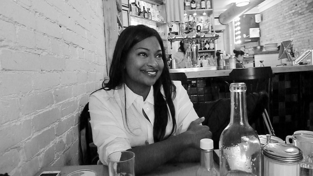 Sommelier Astra Marchi enjoying lunch at The Federal.