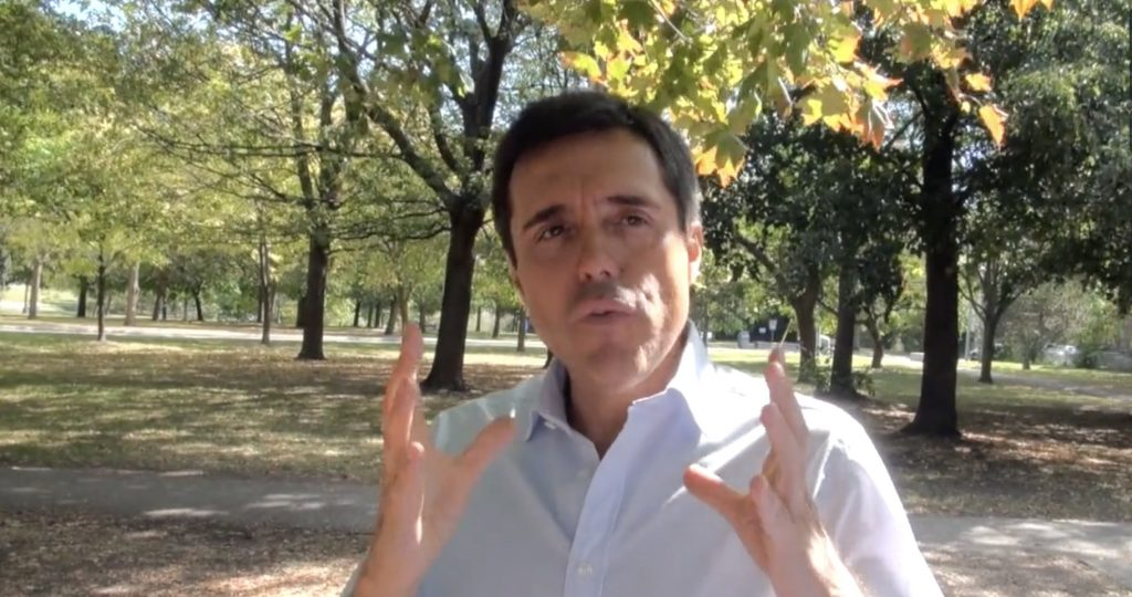 Self-described Wine World Disruptor, Joao Pedro Montes of Portugal's Wine With Spirit hosts a private one-on-one Wine Marketing masterclass in a hot Trinity Bellwoods Park last summer.