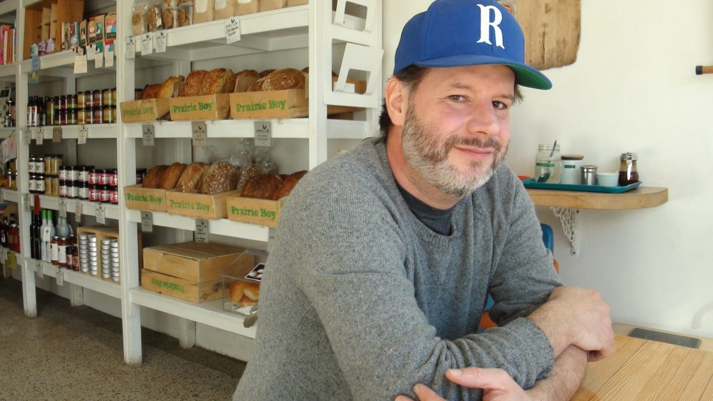 Baker Grant Macpherson at his College Street bakery, Prairie Boy Breads.