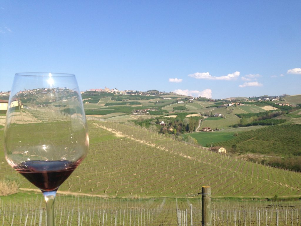 The rolling hills of Barolo.