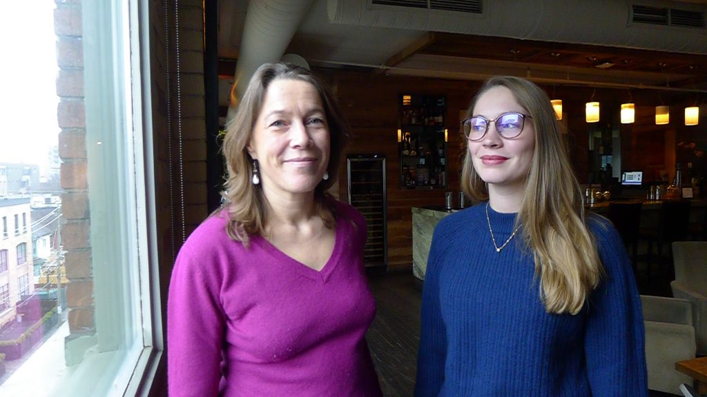 Axelle Machard De Gramont and her daughter Sanni at Toronto's Spoke Club.