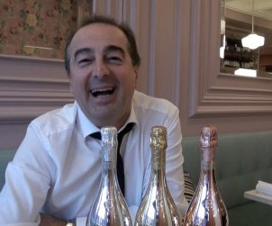Sandro Bottega shares some Prosecco and laughs at Toronto's Café Cancan.