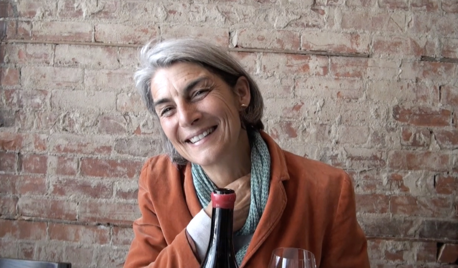 The simply lovely Elisabetta Foradori captured here at Toronto's Dandylion restaurant.