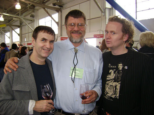 With Hooked's Dan Donovan and Edmeades Winemaker Van Williamson at Z.A.P. (Zinfandel Advocates and Producers Festival), San Fransisco 2008.