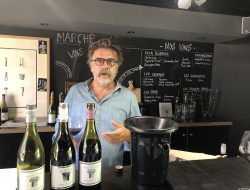 The extremely genial Micro-négoçiant Jérôme Joseph at his Domaine just outside of Carcassonne the day after the famed Convenanza festival, where Calmel & Joseph were the wine sponsor.